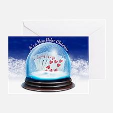 """""""Poker Globe"""" Greeting Card"""