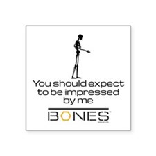 """Bones Impressed Square Sticker 3"""" x 3"""""""