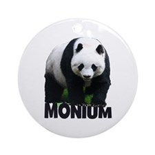 PANDA-MONIUM Round Ornament