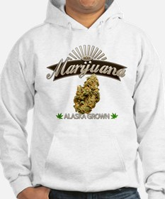 Smoking Alaska Grown Marijuana Hoodie