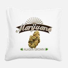 Smoking Alaska Grown Marijuan Square Canvas Pillow