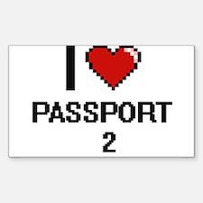 I Love Passport - 2 Decal