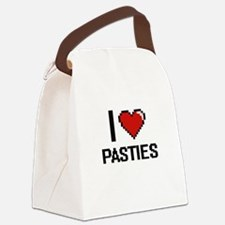 I Love Pasties Canvas Lunch Bag