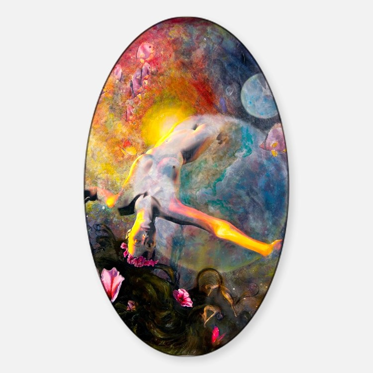 Gaia- Mother Goddess Oval Decal