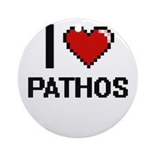 I Love Pathos Round Ornament