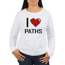 I Love Paths Long Sleeve T-Shirt
