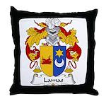 Lamas Family Crest Throw Pillow