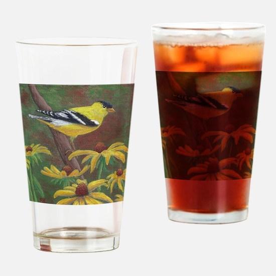 Springtime Gold Drinking Glass