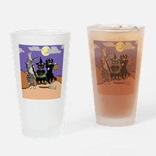 Happy Yowl-o-ween Drinking Glass