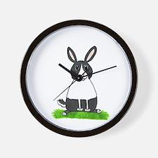 Dutch Chubby Bunny Design Wall Clock