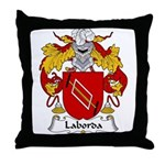 Laborda Family Crest Throw Pillow