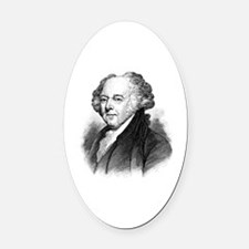 Cute John adams Oval Car Magnet