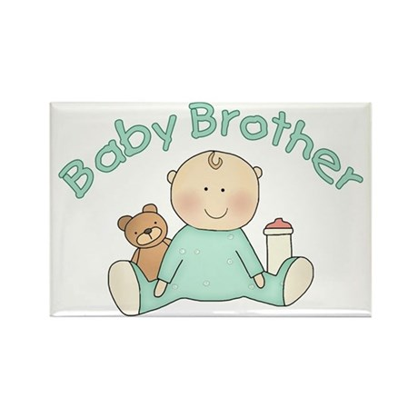 Baby Brother & Teddy Rectangle Magnet (10 pack)