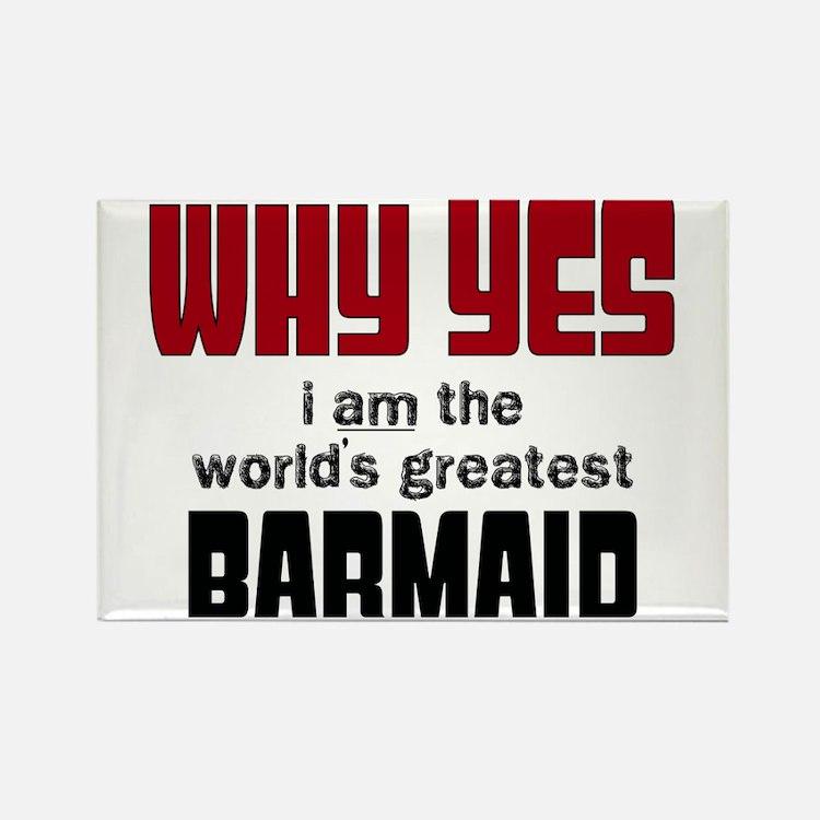 World's Greatest Barmaid Magnets