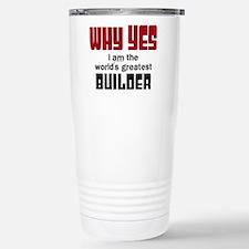 Worlds Greatest Builder Travel Mug