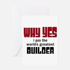 Worlds Greatest Builder Greeting Cards