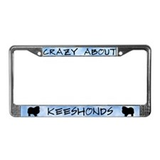 Crazy About Keeshonds License Plate Frame