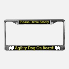 Keeshond Agility Dog License Plate Frame