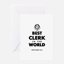 The Best in the World – Clerk Greeting Cards
