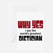World's Greatest Dietician Greeting Cards