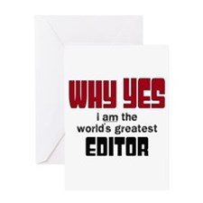 World's Greatest Editor Greeting Cards