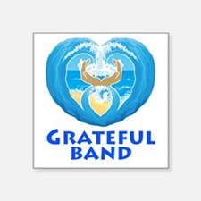 "GratefulBandTee Square Sticker 3"" x 3"""