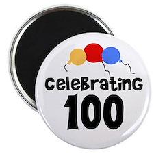 Celebrating 100 Magnet