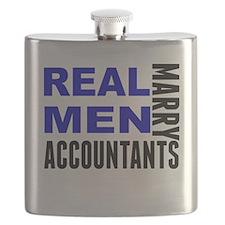 Real Men Marry Accountants Flask