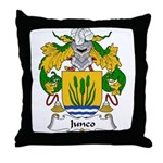 Junco Family Crest Throw Pillow