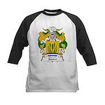 Junco Family Crest Kids Baseball Jersey