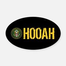 U.S. Army: Hooah Oval Car Magnet