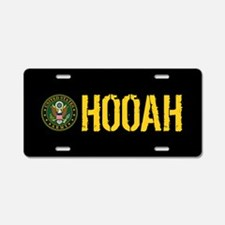 U.S. Army: Hooah Aluminum License Plate