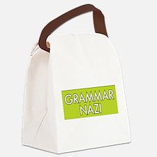 Grammar Nazi – Green Canvas Lunch Bag