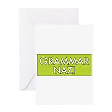 Grammar Nazi – Green Greeting Cards