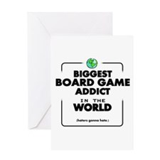 Biggest Board Game Addict Greeting Cards