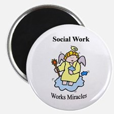 """Social Work Miracle Workers 2.25"""" Magnet (100 pack"""