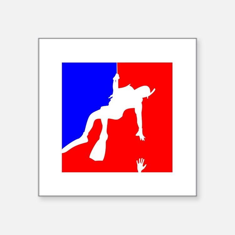 """Cute Rescue swimmer Square Sticker 3"""" x 3"""""""