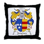 Jimenez Family Crest Throw Pillow
