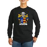 Jimenez Family Crest Long Sleeve Dark T-Shirt