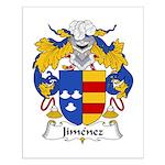 Jimenez Family Crest Small Poster
