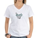 Jane Austen Dearly Women's V-Neck T-Shirt