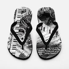Classical Piano Mozart Music Quotes Art Flip Flops