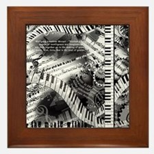 Classical Piano Mozart Music Quotes Ar Framed Tile