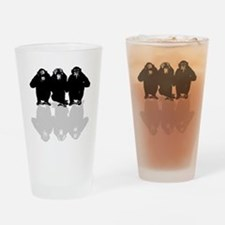 Cute Chimp no evil Drinking Glass