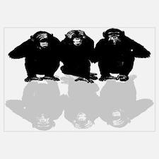 Unique Chimp no evil Wall Art