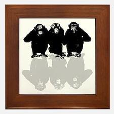 Cute Chimp no evil Framed Tile