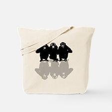 Cute Chimp no evil Tote Bag