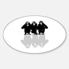 Unique Chimp no evil Sticker (Oval)