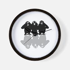 Cute Silly monkey Wall Clock