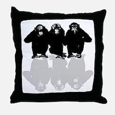 Cute See no evil Throw Pillow